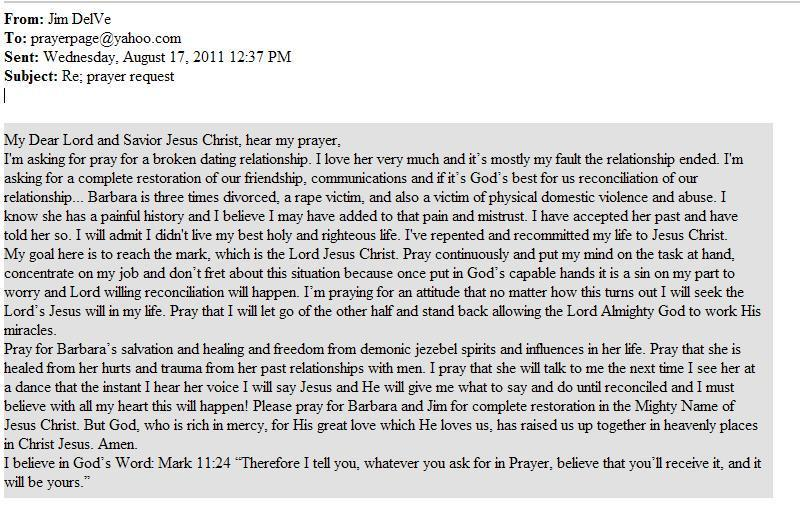 Prayer to get my ex husband back letter