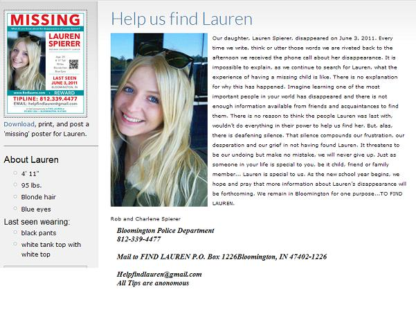 click here for info on lauren we need to find lauren spierer